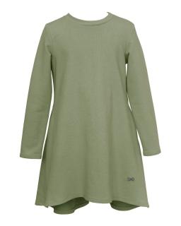 Dzianinowa sukienka dziewczęca 128-164 27B/J/19 oliwkowa 1