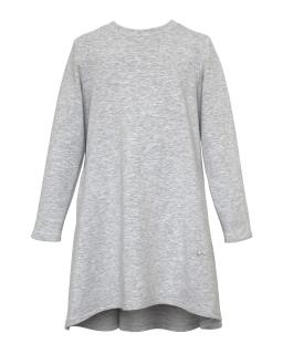 Sportowa sukienka z długim rękawem 128-164 27E/J/19 szara 1