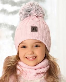 Ciepły zimowy komplet czapka plus komin 52-56 AJS/38-450