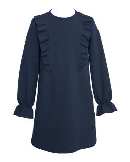 Okazjonalna sukienka dziewczęca 128-164 28D/J/19 granatowa 1