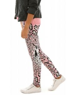 Ciepłe legginsy dla dziewczynki, getry bawełniane na jesień, sklep cętki