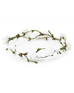 Gałązka komunijna z białymi różami W3117