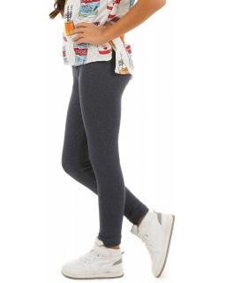 Ciepłe legginsy dla dziewczynek, gładkie getry, ocieplane spodnie
