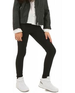 Ciepłe legginsy z bawełny 116-158 KR10 czarne