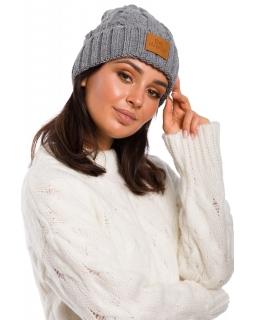 Jesienno-zimowa czapka dla mamy BK043 szara