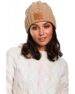 Jesienno-zimowa czapka dla mamy BK043 karmel
