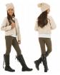 Gładkie legginsy bawełniane dla dziewczynek