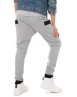 Spodnie dresowe baggy dla dziewczynki 116-158 KRP310 granat