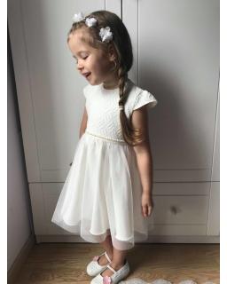 Okazjonalna sukienka dla dziewczynki 86-128 Grace ecru 1