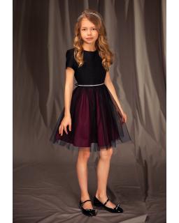 Świateczna sukienka dla dziewczynki 128-158 14A/J/19 bordo
