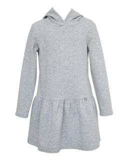Sportowa sukienka z kapturem 128-164 26E/J/19 szara