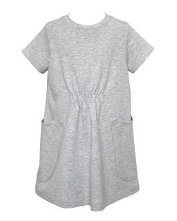 Bawełniana sukienka dla dziewczynki 128-164 29E/J/19 szara 1