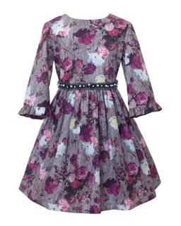 Rozkloszowana sukienka z perełkami 128 158 18BJ19