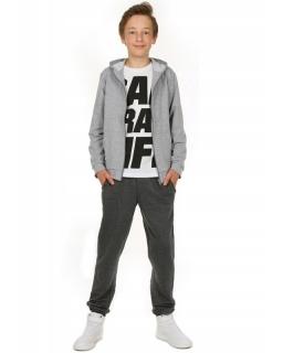 Proste dresy z ociepleniem dla chłopca 116-158 KRP314 grafitowe 1