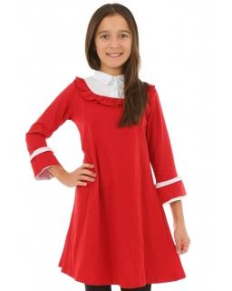 Rozkloszowana sukienka dla dziewczynki 128-158 KRP318 czarwona 1
