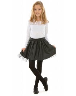 Rozkloszowana spódniczka dla dziewczynki 128-164 KRP319 czarna 1
