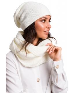 Jesienno-zimowa czapka - smerfetka dla mamy BK044 ecru