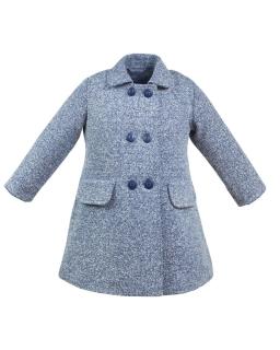 Gustowny płaszcz dla dziewczynki 110-134 Brenda granatowy melanż