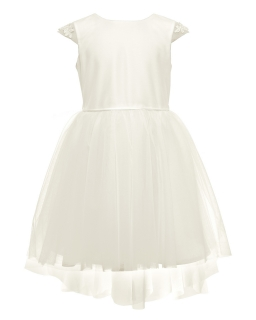 Elegancka sukienka dla dziewczynki 134-158 6B/SM/20 ecru 1