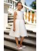 Stylowa sukienka pokomunijna 128-158 7A/SM/20 biała 1