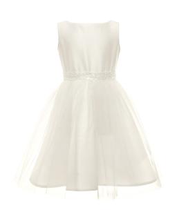 Prosta sukienka dla dziewczynki 128-158 7B/SM/20 ecru 1