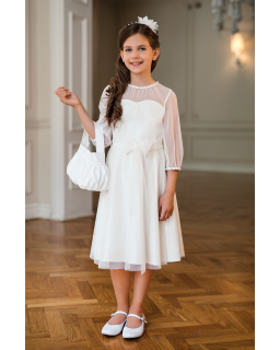 Pokomunijna sukienka dla dziewczynki 134-164 30/SM/20 ecru