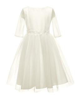 Sukienka pokomunijna z rękawkiem 134-158 5B/SM/20 ecru