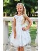 Niebanalna sukienka dla dziewczynki 122-158 34/SM/20 ecru 1