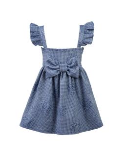 Sukienko-spódnica na szelkach z kokardą 92-128 Fifi jeans