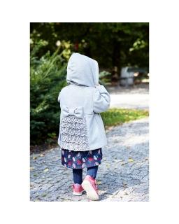 Flauszowy płaszczyk dla dziewczynki 86-134 Kelly różowy