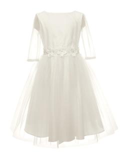 Wyjątkowa pokomunijna sukienka 134-164 26A/SM/20 ecru