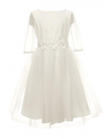 Wyjątkowa pokomunijna sukienka dla dziewczynki 134-164 26A/SM/20 ecru