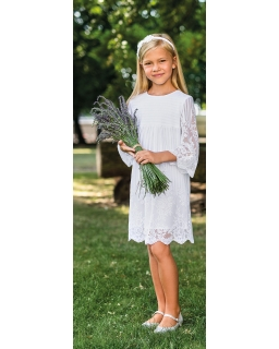 Koronkowa sukienka dla dziewczynki 128-158 10A/SM/20 biały