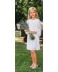 Koronkowa sukienka dla dziewczynki 128-158 10A/SM/20 biały 1