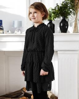 Młodzieżowa sukienka dla dziewczynki 134-164 Julka czarna