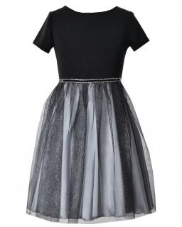 Wystarzałowa sukienka dla dziewczynki 128-158 Abigail czarna