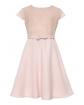 Elegancka dziewczęca sukienka 128-158 23A/SM/20 róż