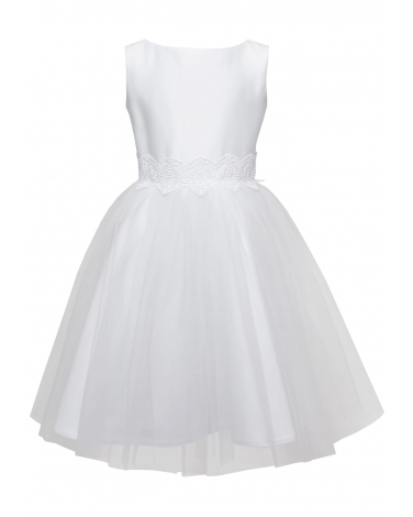 Pokomunijna sukienka dla dziewczynki 104-158 13A/SM/20 biała 1