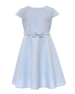 Elegancka dziewczęca sukienka 128-158 23B/SM/20 niebieska