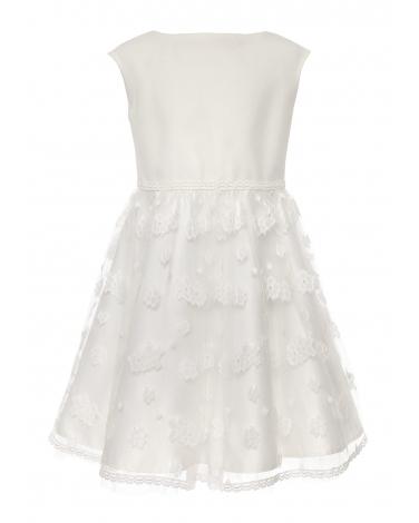 Pokomunijna sukienka dla dziewczynki 104-158 16/SM/20 ecru
