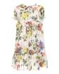 Kolorowa sukienka z falbanką w kwiaty 128-164 41A/SM/20 mix