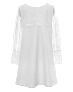 Biała sukienka pokomunijna dla dziewczynki 128-158 11A/SM/20 1