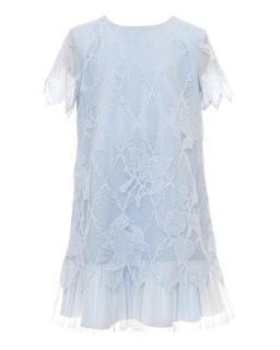 Elegancka koronkowa sukienka 134-164 29B/SM/20 niebieska