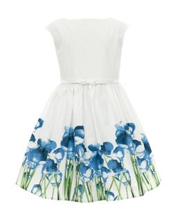 Rozkloszowana sukienka dziewczęca 128-158 40A/SM/20 ecru 1