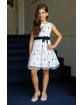 Dziewczęca sukienka w róże 122-152 39/SM/20 ecru 1