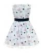 Dziewczęca sukienka w róże 122-152 39/SM/20 ecru 3