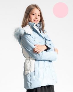 Kurtka z kieszeniami dla dziewczynki 134-170 GMA-4842 niebieska i różowa