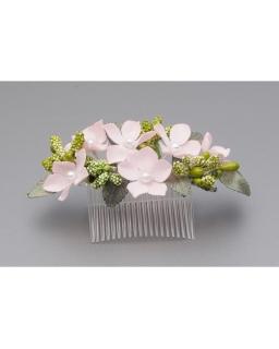 Stroik do włosów z różowymi kwiatkami ST22