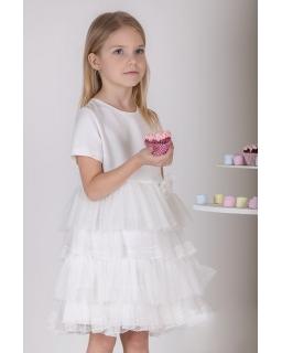 Dziewczęca sukienka na komunię 128-158 P-173 ecru