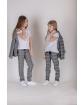 Komplet dla dziewczynki żakiet i spodnie 128-158 KP1/viw szary 2